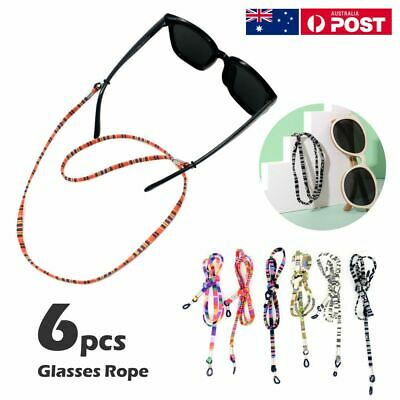 AU6.99 • Buy 6 Pcs Colorful Sunglasses Strap Eyeglass Chain Reading Glasses Holder Neck Cord