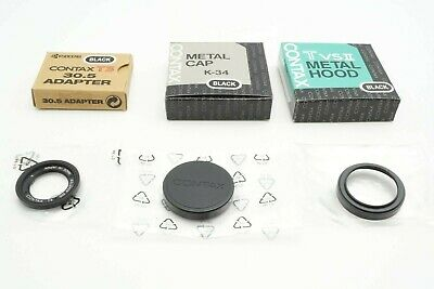 $ CDN438.61 • Buy MINT IN BOX Contax T3 30.5 Adapter, TVS HOOD, METAL CAP ALL BLACK FOR T3 A281