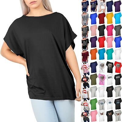 £4.99 • Buy Womens Ladies Batwing Sleeve Oversized Baggy Off The Shoulder Bardot T Shirt Top