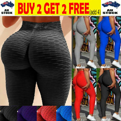 AU18.78 • Buy Womens Yoga Pants Butt Lift Leggings Sports Gym Fitness Anti Cellulite Trousers
