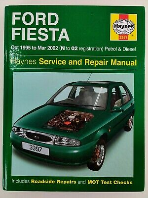 Haynes Ford Fiesta Service And Repair Manual, Oct 1995 To Mar 2002, N To 02 Reg • 0.99£