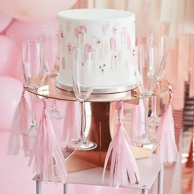£17.95 • Buy Rose Gold Treat And Drink Stand   Prosecco Wall Birthday Cake Party Decorations