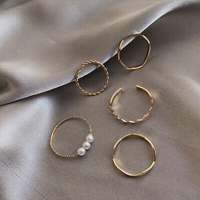 £4.18 • Buy Combination Set Ring Female Simple And Versatile Index Finger Ring Sweet RingBG0