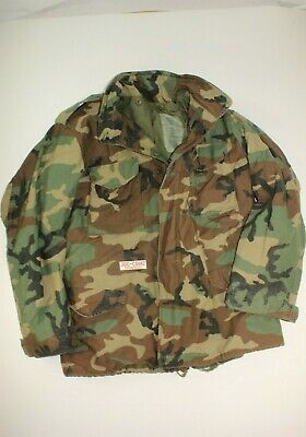 $44.99 • Buy U.s. Army M81 Woodland Camo M-65 Field Jacket Dated 1989 Size Large Long