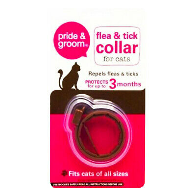 £2.93 • Buy Cat Flea & Tick Collar Flee Lasts 3 Months Protection Stretch Fits All Size Cats