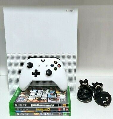 AU102.50 • Buy Microsoft Xbox One S 500GB White Gaming Console + 3x Games 1x Controller - 1681
