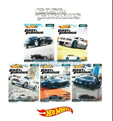 AU40 • Buy Hot Wheels Premium Fast & Furious Euro Fast Complete Set 1-5 FREE POSTAGE