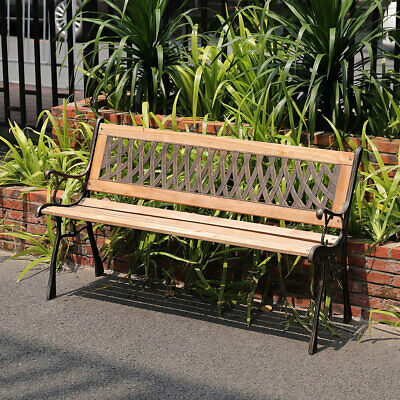 £69.95 • Buy Garden Bench 3 Seater Cross Seating Park Classic Seat Patio Outdoor Furniture