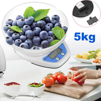 £6.59 • Buy 5kg Digital Kitchen Scales Lcd Electronic Cooking Food Measuring Bowl Scale New