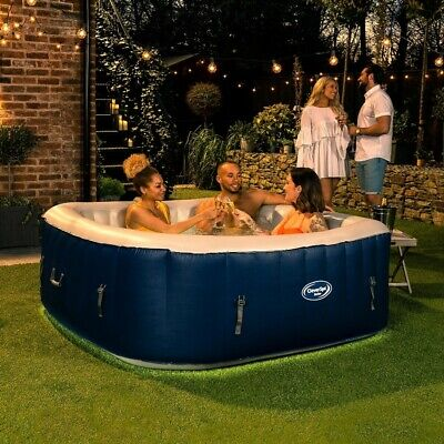 Cleverspa Belize 6 Person Inflatable Hot Tub With Lights Brand New Summer ☀️ • 679.95£