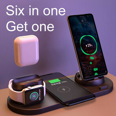 AU23.40 • Buy 3 In1 QI Wireless Charger Charging Dock Station For Apple Watch / IPhone/ Pods A