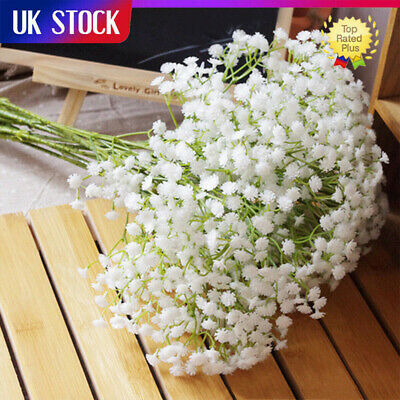 £6.59 • Buy 10Pcs Artificial Fake Baby's Breath Gypsophila Silk Flowers Bouquet Wedding Deor
