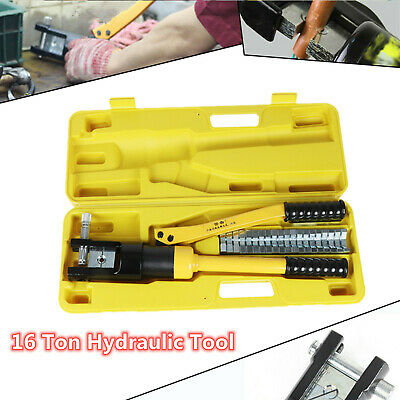 £24.99 • Buy 16 Ton Hydraulic Crimper Crimping Tool Dies Battery Cable Wire Hose Lug Terminal
