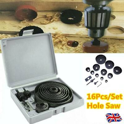 £8.99 • Buy 17HOLE SAW KIT SET 19-127mm HEAVY METAL CIRCLE CUTTER ROUND DRILL WOOD DOWNLIGHT