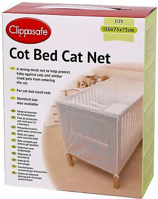 £20.49 • Buy Clippasafe COT BED CAT NET/MESH Baby/Child/Kids Nursery Safety Proofing BN