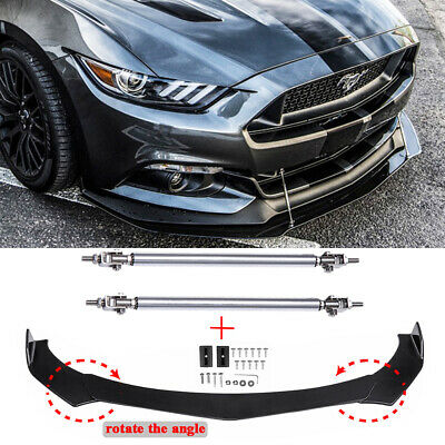 $89.35 • Buy For Ford Mustang GT Focus Mondeo Front Bumper Lip Splitter Spoiler W/ Strut Rods