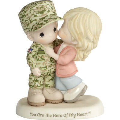 $65.99 • Buy $ New PRECIOUS MOMENTS Figurine US ARMY SOLDIER HERO Military Porcelain Statue