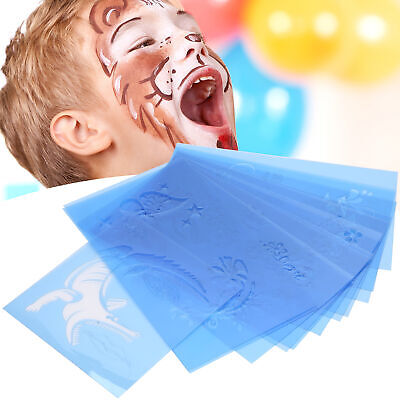£10.94 • Buy Reusable Face Paint & Airbrush Tattoo Stencils Body Painting Makeup Template