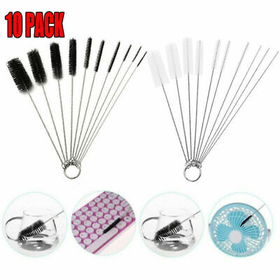 £3.29 • Buy 10Pcs Strip Bottles Cleaner Brushes Tube Pipe Small Long Handle Cleaning Brush