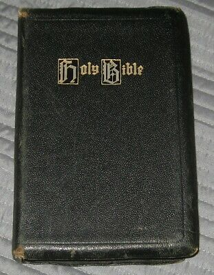 AU7.28 • Buy Holy Bible King James Version KJV Vintage Genuine Leather, Holman Handy Bible