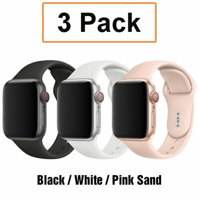 AU9.99 • Buy For Apple Watch 6 5 4 1 IWatch SE 38 40 42 44mm 3 PCS Silicone Sport Band Strap