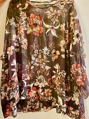 AU177.50 • Buy TRELISE COOPER STUNNING FLORAL SWING TOP TUNIC XL NZ Designer