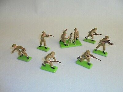 Britains Deetail British Soldiers Set Of 6 Plus Mortar And Crew • 8.80£
