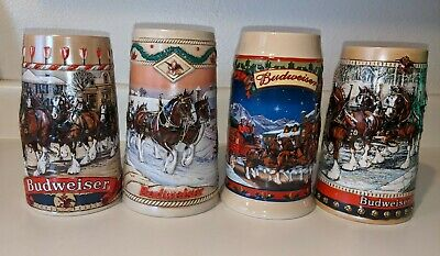 $ CDN74.99 • Buy 4 Budweiser Stein Lot