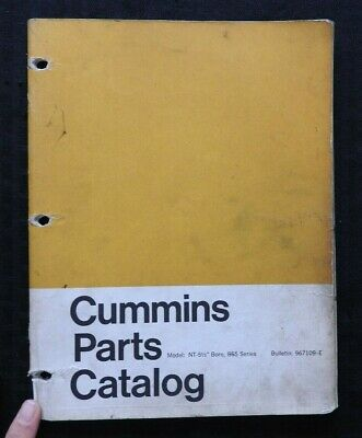 AU54.11 • Buy Cummins Nt 5 1/2  Bore 855 Series Diesel Engine Parts Manual Catalog Good Shape
