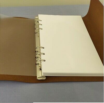 Faux Leather A5 Notepad Journal Binder High Quality Plain Thick Paper 70 Pages_3 • 3.50£