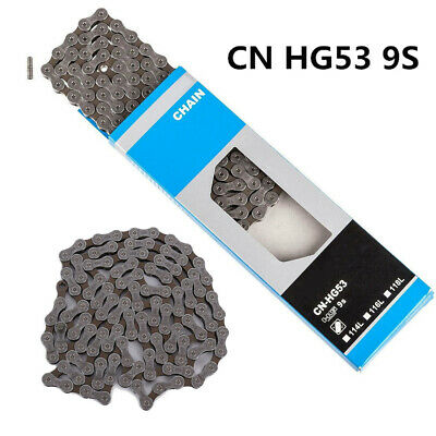 AU19.92 • Buy CN-HG53 Chain 9 Speed MTB / Road Bike Links Chain MTB & Road Bicycle Part