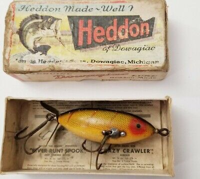 $ CDN37.65 • Buy Original Vintage Wooden Heddon SOS Wounded Minnow With Box And Paperwork #140-L