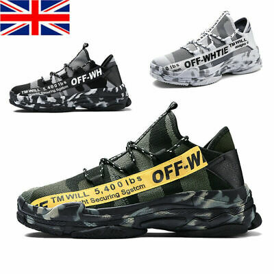 £17.59 • Buy Mens Running Trainers Lace Up Sports Gym Casual Shoes Breathable Camouflage Size