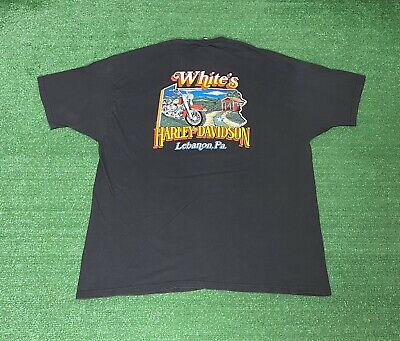 $ CDN31.38 • Buy Vintage 1999 Harley Davidson T-Shirt Size 3XL USA Made Front Puff Print