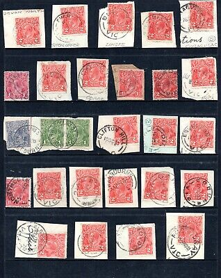 AU2 • Buy Selection Of Victoria Postmarks On Kgv Heads.