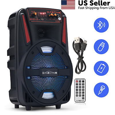 $42.99 • Buy 8  Portable FM Bluetooth Speaker Sub Woofer Heavy Bass Sound System Party 1000W