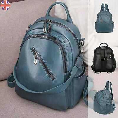 Women Ladies Backpack Travel Shoulder Bag Leather Flap Rucksack School Handbag • 6.79£