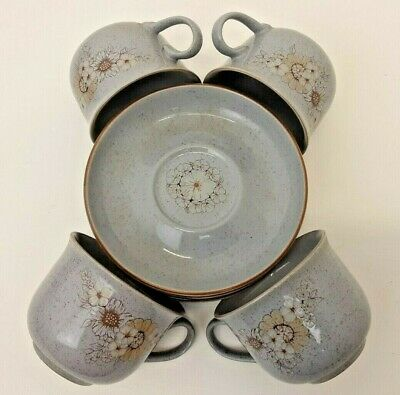 £30 • Buy Denby Fine Stoneware Reflections 4 Cups And Saucers Plus 1 Spare Saucer