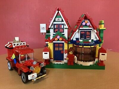 Lego Easter (winter) Village Post Office Like 10222 With Van & 2 X Minifig • 20£