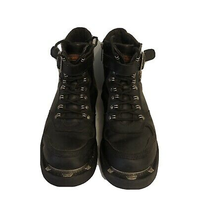 $ CDN39.20 • Buy Harley Davidson Men's Black Leather Lace Up Low Ankle Biker Boots Shoes 10,5