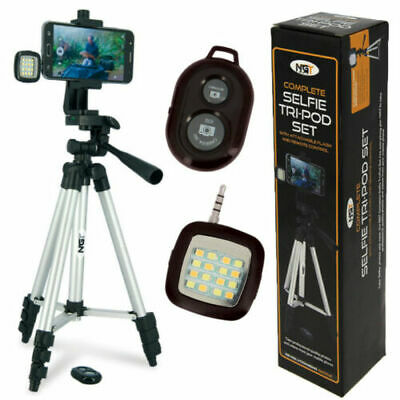 £19.90 • Buy NGT Carp Fishing Selfie Tripod Camera Set With Light & Remote Control Pod Stand