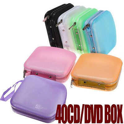 AU11.21 • Buy Portable 40 Disc CD DVD Storage Zipper Bag Case Hard Box Wallet Album Holder ^ji