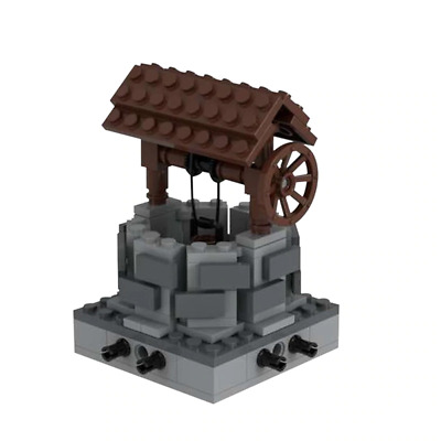 £24.99 • Buy Building Block Well Medieval Village Wishing Well City Creation Set