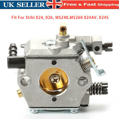 £11.88 • Buy Carburetor Carb For STIHL 024 026 MS240 MS260 Chainsaw Replacement 11211200611
