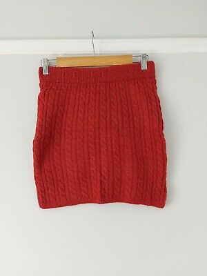 £13 • Buy Urban Outfitters Burgundy Cable Knit Mini Skirt BNWOT Size Small