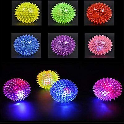 £5.99 • Buy 2xPet Dog Puppy LED Light Up Flashing  Play Toy Chasing Bounce Rubber Spiky Ball
