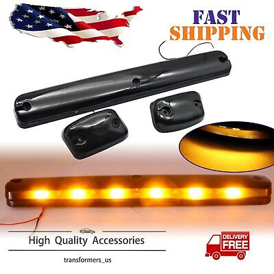 $43.19 • Buy 3Pcs Amber LED Cab Roof Marker Top Lights For Chevrolet Silverado 1500 2500 3500