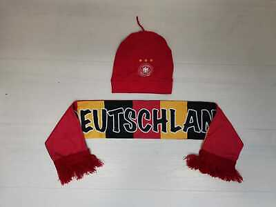 6992 Adidas Scarf And Hat Cap Girl Germany Scarf Beenie • 21.54£
