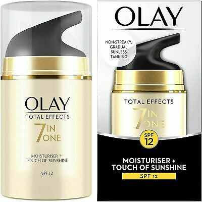 AU25.03 • Buy Olay Total Effects 7-in-1 Touch Of Sunshine Moisturiser,  SPF12, 50ml, New