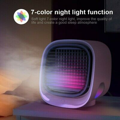 AU14.69 • Buy Portable USB Mini Air Cooler Fan Air Conditioner Cooling Fan Humidifier Purifier